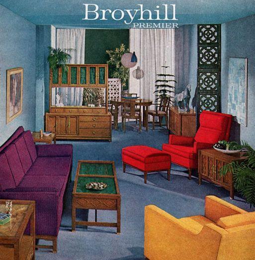 colorful broyhill premier furniture - Mid Century Modern Decor
