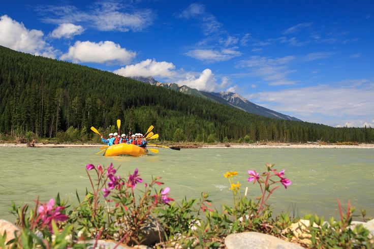Rafting in Golden, BC.