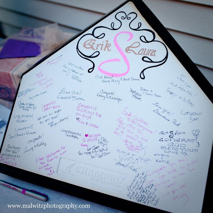 home plate guest book - love love!