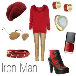 I could put this together for Halloween and go as an Iron Man groupie. Yes to that.
