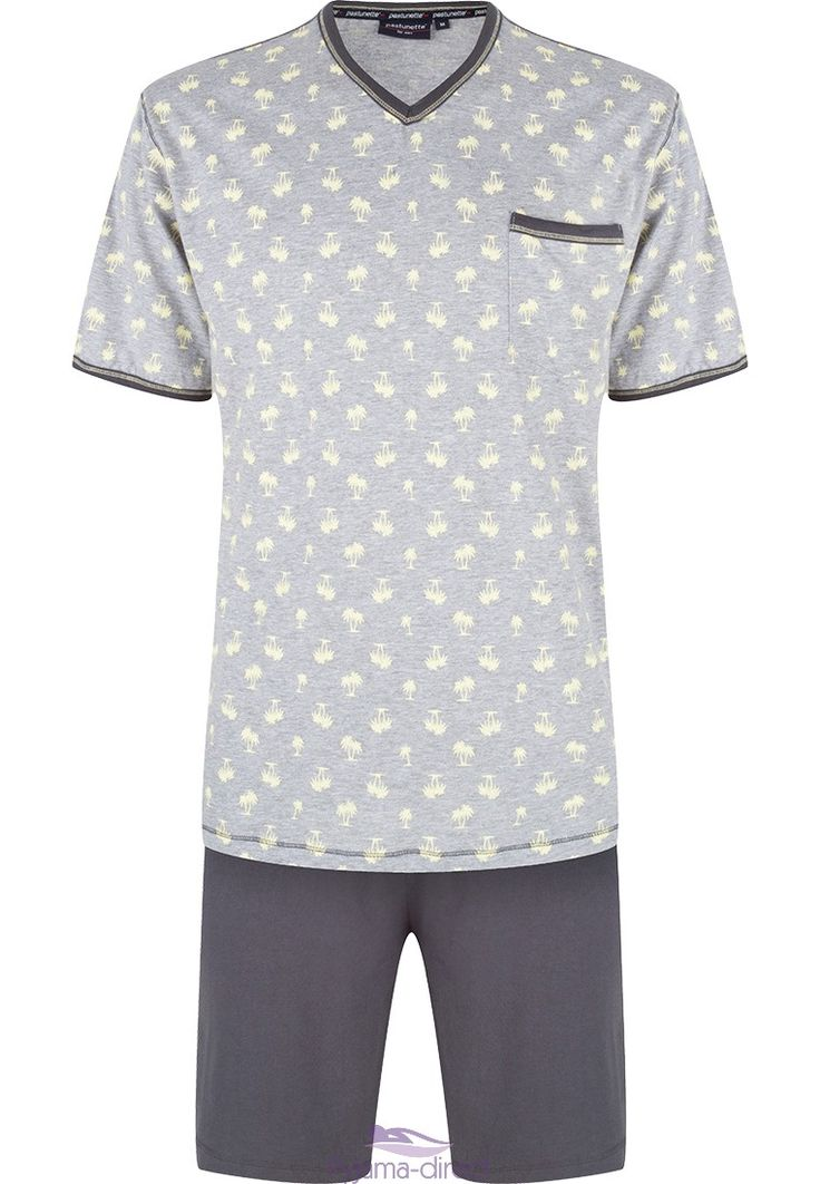 """You will feel cool & relaxed in this """"mixed palms"""" shorty set from Pastunette for Men  - Go on...Don't miss out!"""