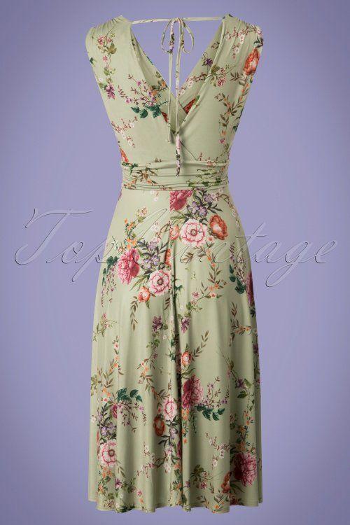 50s Midi Vintage GreenFashion In Floral Jurken Jane Dress 0nkOX8wP