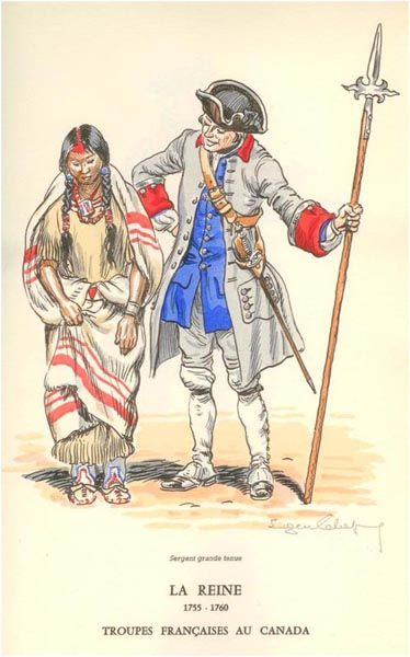 """""""La Reine """" (1755-1760, Troupes françaises au Canada) by Eugène Leliepvre"""