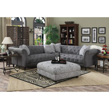 Charmant Lend A Touch Of Glamorous Appeal To The Living Room With This Lovely Tufted  Sectional Sofa