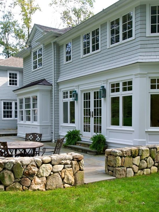 , Interesting Farm House Facade Also White Box Bay Window Design And Traditional Loft Windows Design Also Unique Exterior Lantern And Classic Exterior Furniture: Admirable Box Bay Window for New Experience in the House