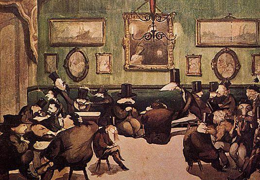 Au Caffè Michelangiolo, vers 1867, Adriano Cecioni