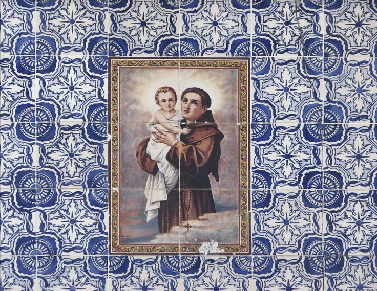 Ovar | Edifício na / Building in the Rua Fernandes Tomás, n.º 59 [© Az Infinitum] #Azulejo #AzulejoDoMês #AzulejoOfTheMonth #Santos #Saints