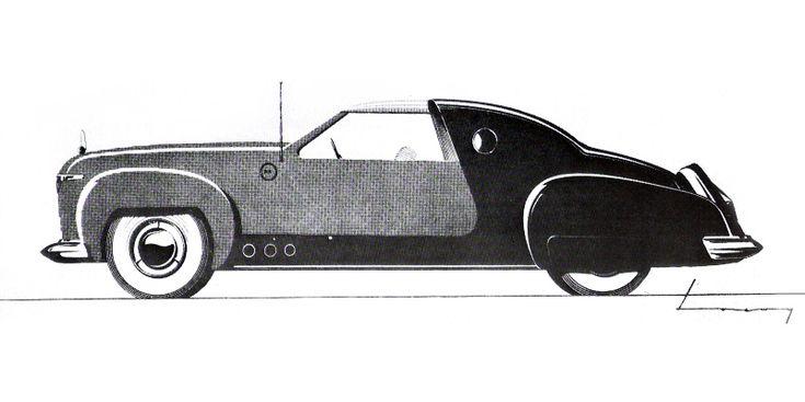 Lincoln Continental (1941): Раймонд Лоуи - Оригинальный дизайн эскиз