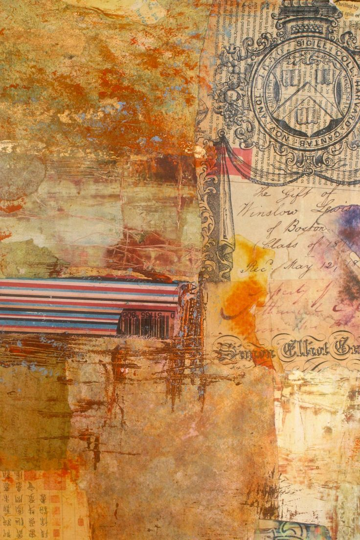 """Ifigenia Christodoulidou""""Guardian Angel"""" (detail) Mixed media collage, acrylic, photo transfer and paper on canvas, 60x40 cm"""