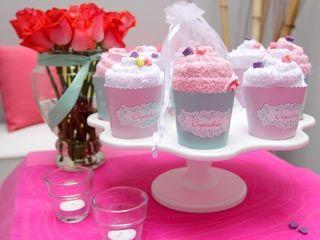 Manualidades y Artesanías   Cupcake de toalla   Utilisima
