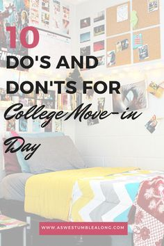 So today's your college move in day, huh? There's some things you definitely need to do...and some things you definitely shouldn't.