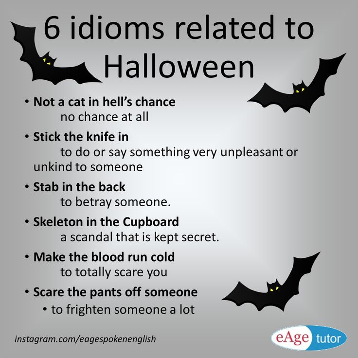 6 Idioms related to Halloween                                                                                                                                                                                 Más