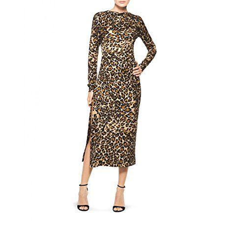 Tamara Mellon Chief Designer Jimmy Choo Side Slit Leopard print Dress