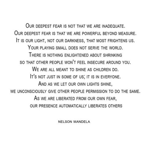 .: Deepest Fear, Inspiration, Life Lessons, Marianne Williamson, Nelson Mandela, Things, Nelson Mandela Quotes, Favorite Quotes, Living