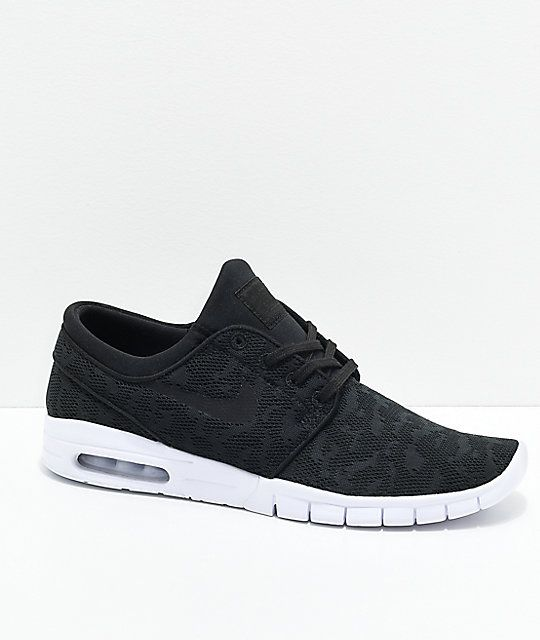 sneakers for cheap 04b37 afc88 Nike SB Janoski Air Max Black   White Skate Shoes