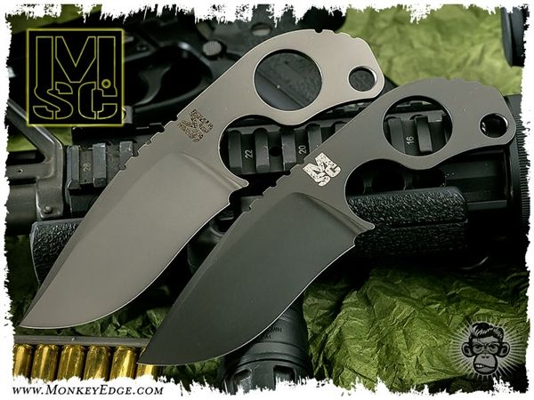 Strider Knives Custom: Mick Strider Custom Asym Edge Coated SLCC
