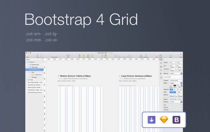 25+ Bootstrap Grid System PSD Templates