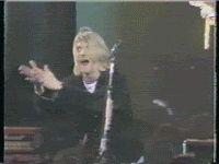 Kurt Cobain Clapping GIF