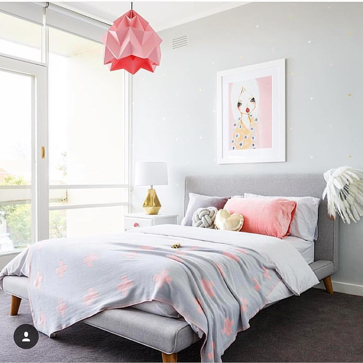 "Little Liberty. on Instagram: ""It's all in the little details! Choosing the right color for your walls can make all the difference in a room like this! The soft grey hue we chose for this room worked so perfectly to create the most soothing backdrop! We love sourcing the perfect paint colors for our clients! #perfectpaintcolor #girlsroom #girlsbedroom #prettygirlsroom #prettygirlsrooms #girlsrooms #greyandpink  @jeremyblodephotography"""