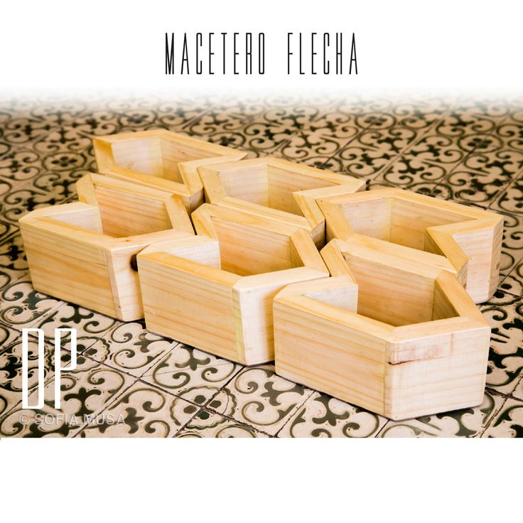Macetero flecha. Planter Arrow handmade by Diseño Patrón Chilean design furniture