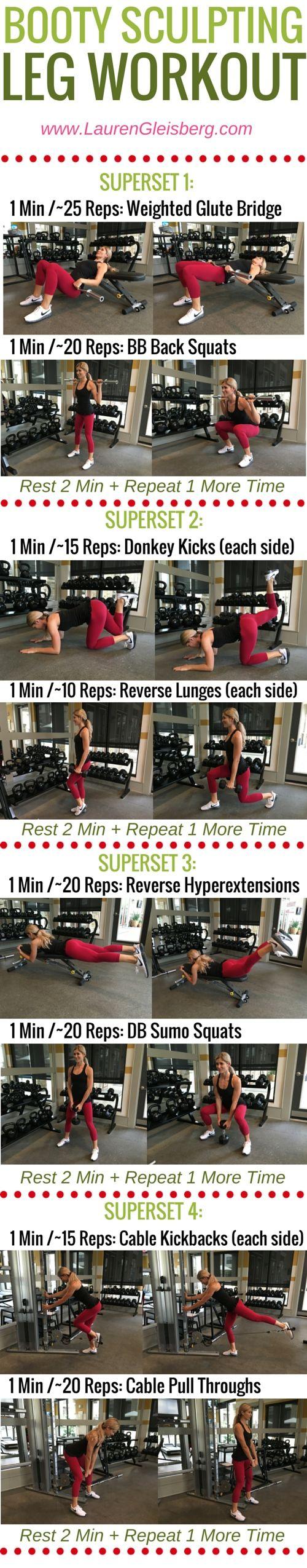 Week 2 Day 2... Legs... Gym version. Lauren Gleisberg
