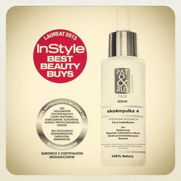 #facecare #ecoAmpoule #serum #acneprone #skincare #hypoallergenic #antibacterial #agents #seboregulating #antioxidants #moisturizes #patandrub #patrub #kosmetyki #ekologiczne #trądzik #InStyle #BestBeautyBuys