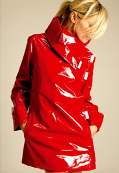 Shiny Red Raincoat