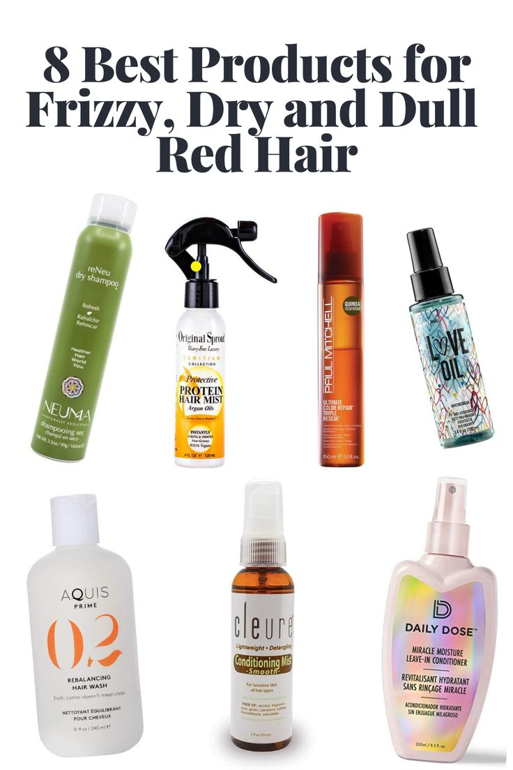 8 best products for frizzy dry and dull red hair in 2020