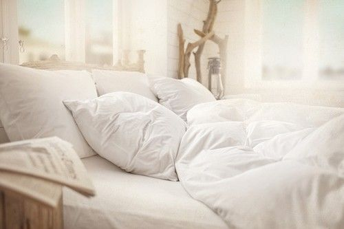 A big, white, comfy, bed. *le sigh*