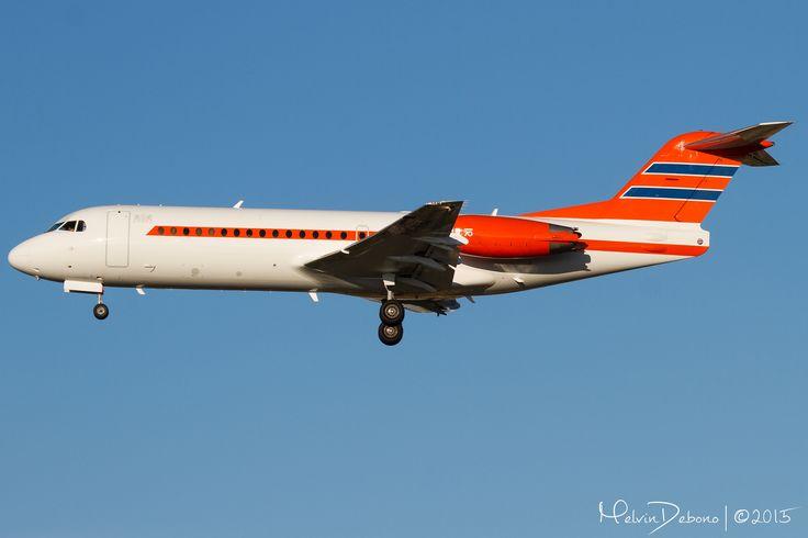 Netherlands Government Fokker 70  'PH-KBX'  LMML | Valletta Summit 2015