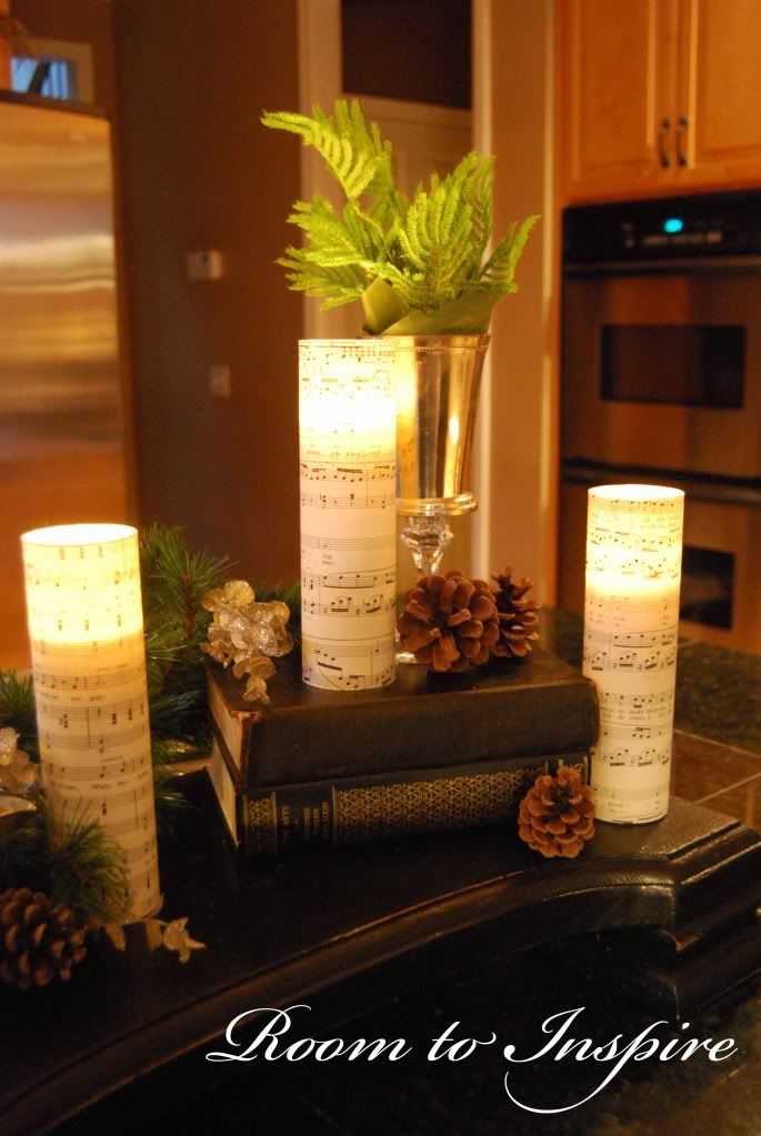 These are made from cheap candles and sheet music. Can't wait to make these.