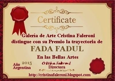 Premio Faleroni: FADA FADUL. Galardonada.