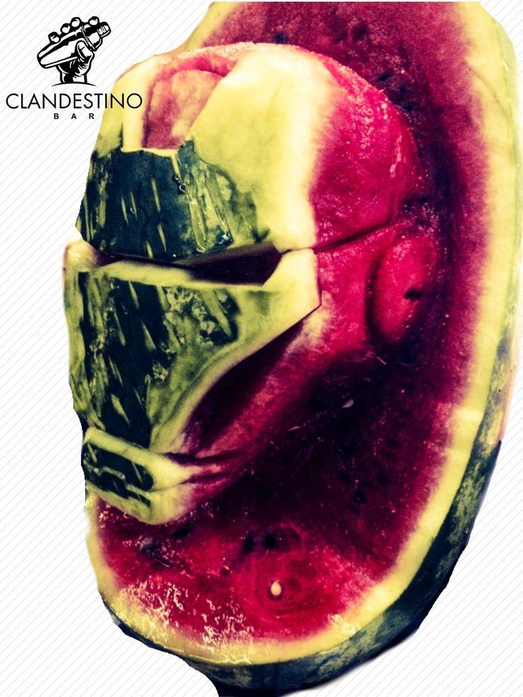 Helmet Iron Man watermelon