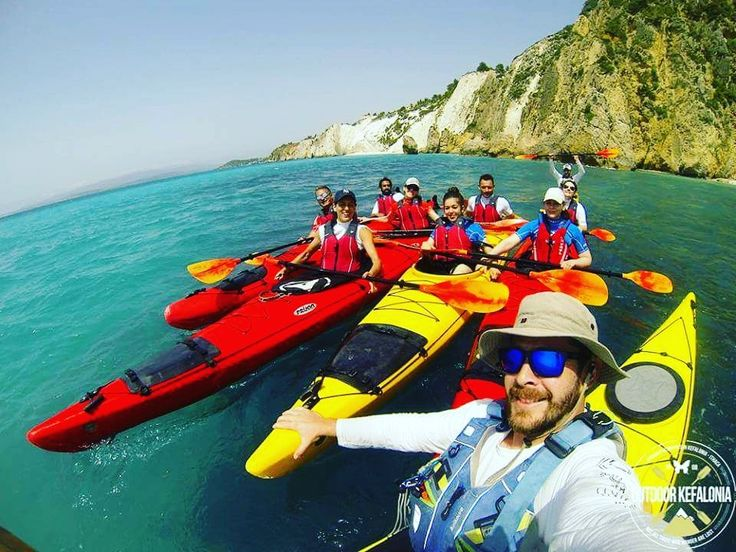 Sea kayaking at the South West of Kefalonia