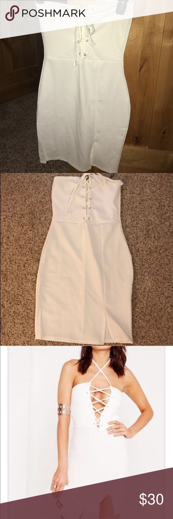 Missguided White Dress US size 4 NWT Missguided Dresses