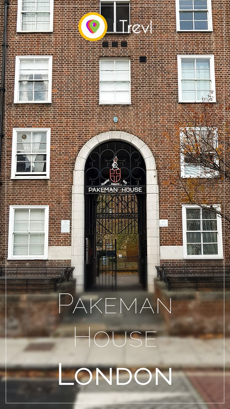 Massive portal at the Pakeman House in London, United Kingdom.