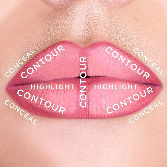 Easy guide for lip contouring using our #tarteist lip crayon & #lippiepaint! #tartecosmetics #lipcontour #kissthis