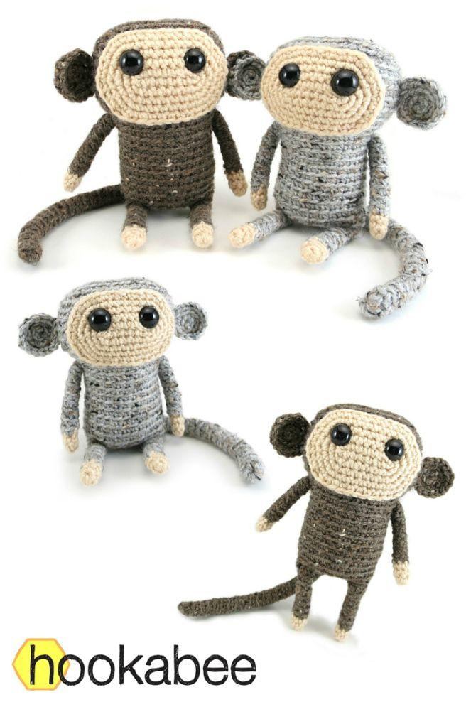 Tiao Pi the Monkey amigurumi pattern by @hookabee