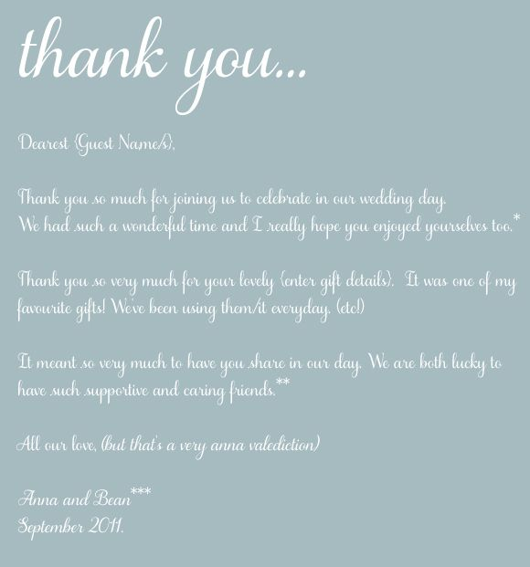 Wording For Wedding Thank You Cards Parents #4