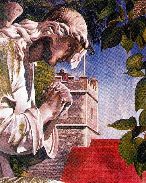 Spencer, Stanley (1891-1959) - 1933 The Angel, Cookham Churchyard (Private Collection) by RasMarleyArt You Enjoy, Art Ii, Spencer Style, Art Metaphi, Sir Stanley, Mystic Art, Angels Artists, British Art, Stanley Spencer