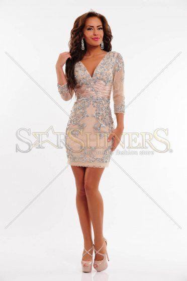 Rochie Sherri Hill 2952 Nude