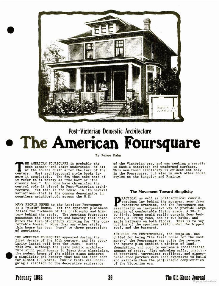 16 best american foursquare homes images on pinterest for American craftsman house plans