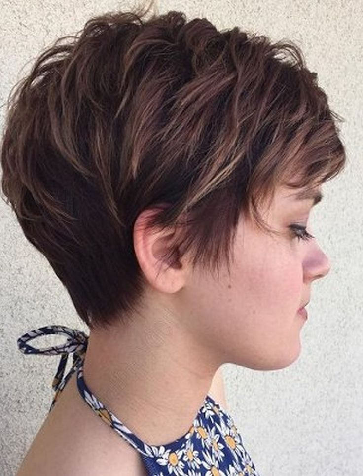 Funky short pixie haircut with long bangs ideas 104