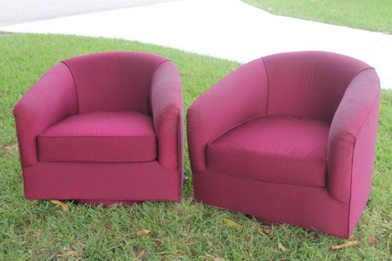 Chrome Base Milo Baughman Style Swivel Club Chair / Yellow / Mid ...