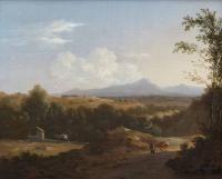 Frederik de MOUCHERON (1633-1686) Promeneur dans un paysage Toile 27 x 33 cm Signé [...], Grande Vente Cataloguée à Mercier & Cie