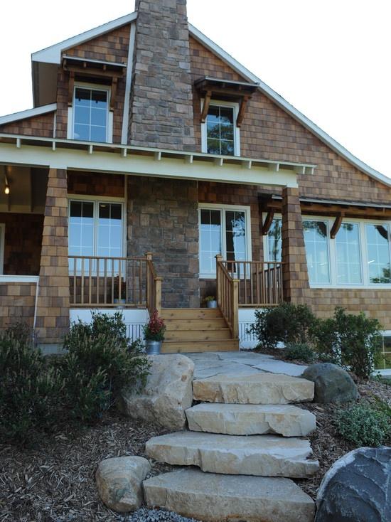Traditional Exterior Design, Cedar Shakes Exterior, Masonry Fireplace  Chimney Good Ideas