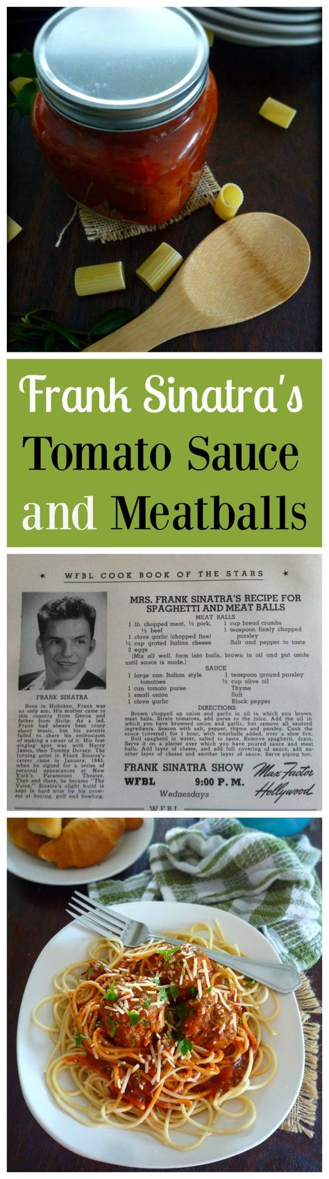 Perfect Marinara sauce was one of Sinatra's culinary passions. Frank published the recipe for his mother's Natalie Della Garaventa aka Dolly Sinatra, tomato sauce in a cookbook and even launched his own line of jar sauce in the late 1980s. His recipe call                                                                                                                                                                                 More
