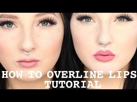 How to Overline and Overdraw Lips 101 Tutorial / Jordan Hanz