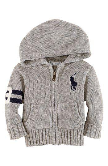 Ralph Lauren Zip Cardigan (Baby Boys)   Nordstrom.....baby clothes. LOVE!