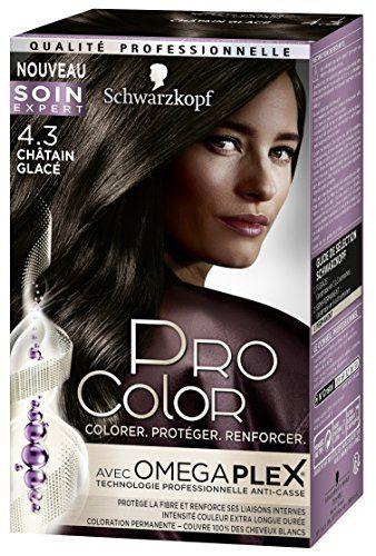Pro Color Schwarzkopf Coloration Permanente Châtain Glacé 4.3 #Color #Schwarzkopf #Coloration #Permanente #Châtain #Glacé